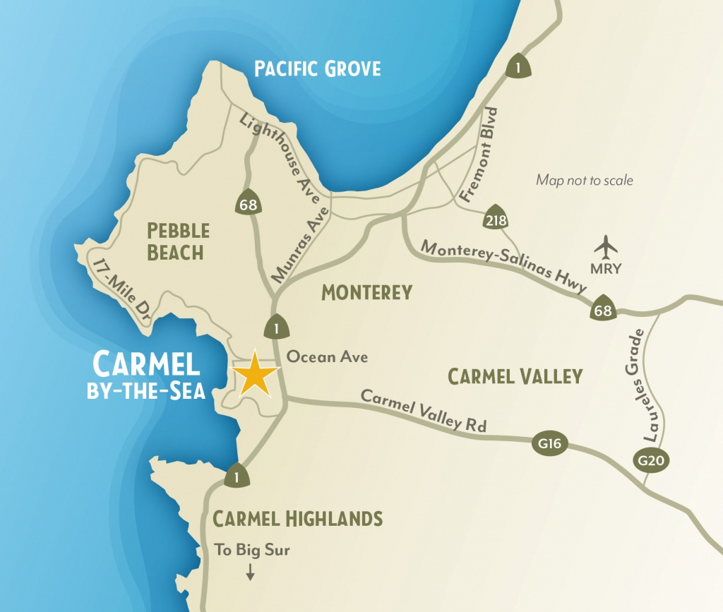 Getting To & Around Carmel-By-The-Sea, California - Monterey Bay California Map