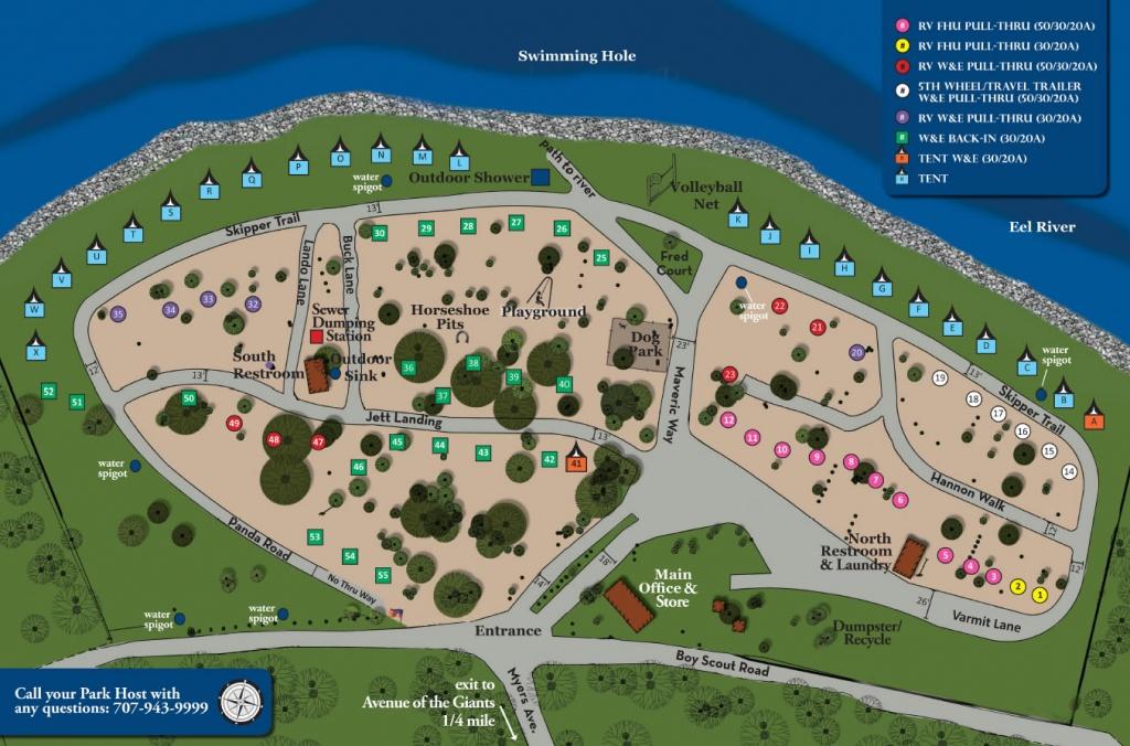 Giant Redwoods Rv Camp | Giant Redwoods Rv Camp - California Rv Resorts Map
