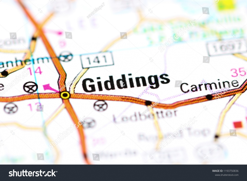 Giddings Texas Usa On Map Stock Photo (Edit Now) 1193750836 - Giddings Texas Map
