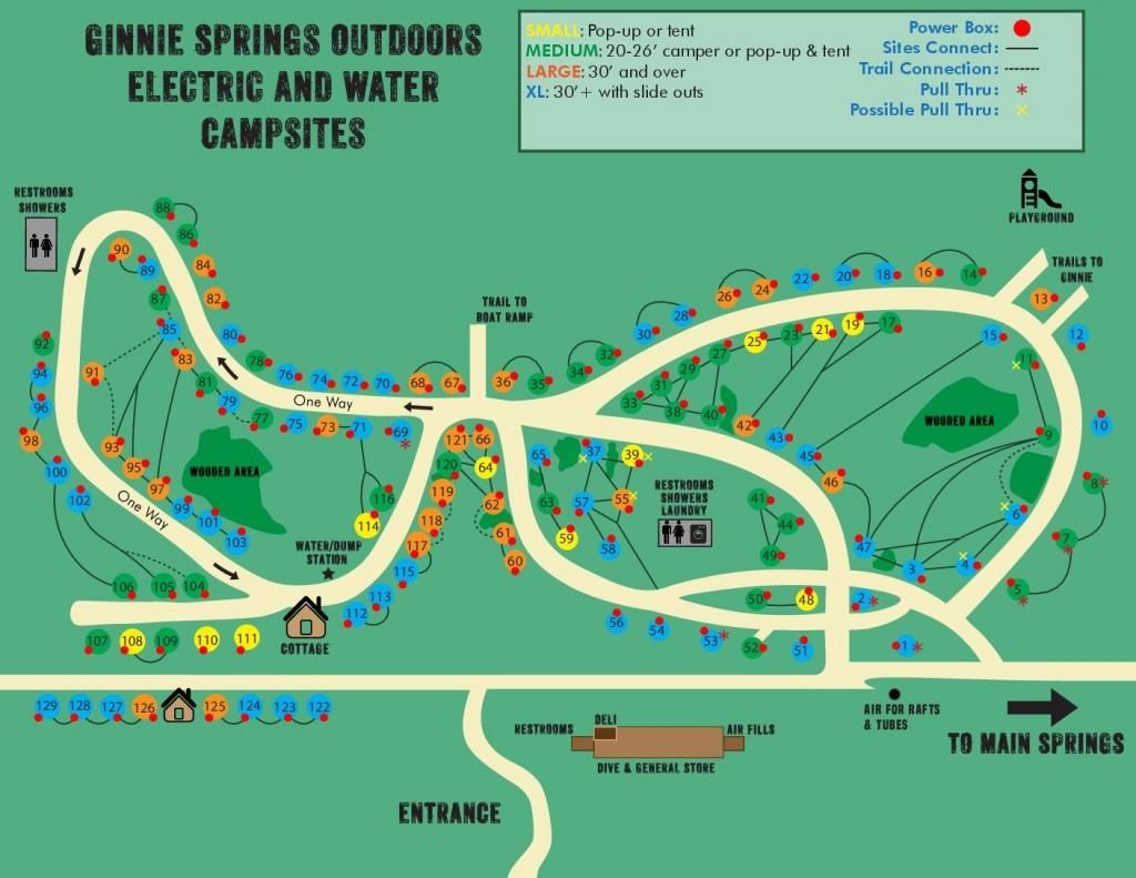 Ginnie Springs Florida Map | Dijkversterkingbas - Ginnie Springs Florida Map