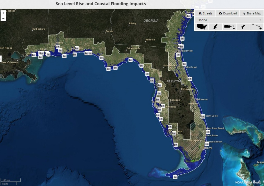 Global Warming Florida Map | Map North East - Florida Map After Global Warming