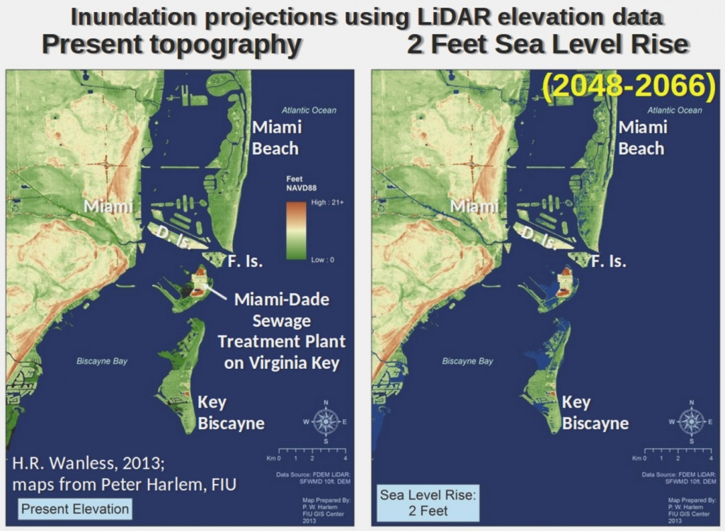Global Warming Threat: Florida Could Be Overwhelmedsudden Sea Rise - Florida Global Warming Map
