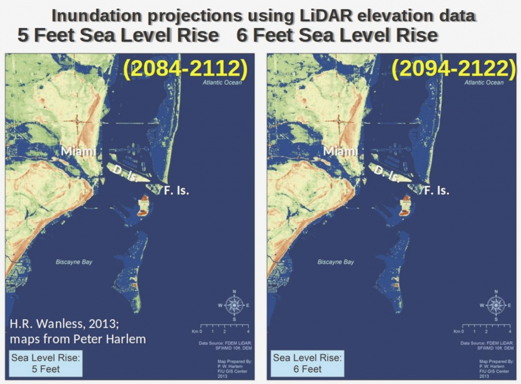 Global Warming Threat: Florida Could Be Overwhelmedsudden Sea Rise - Florida Map After Global Warming