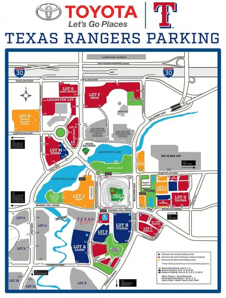 Globe Life Park In Arlington – Where To Park, Eat, And Get Cheap Tickets - Texas Rangers Parking Map 2018