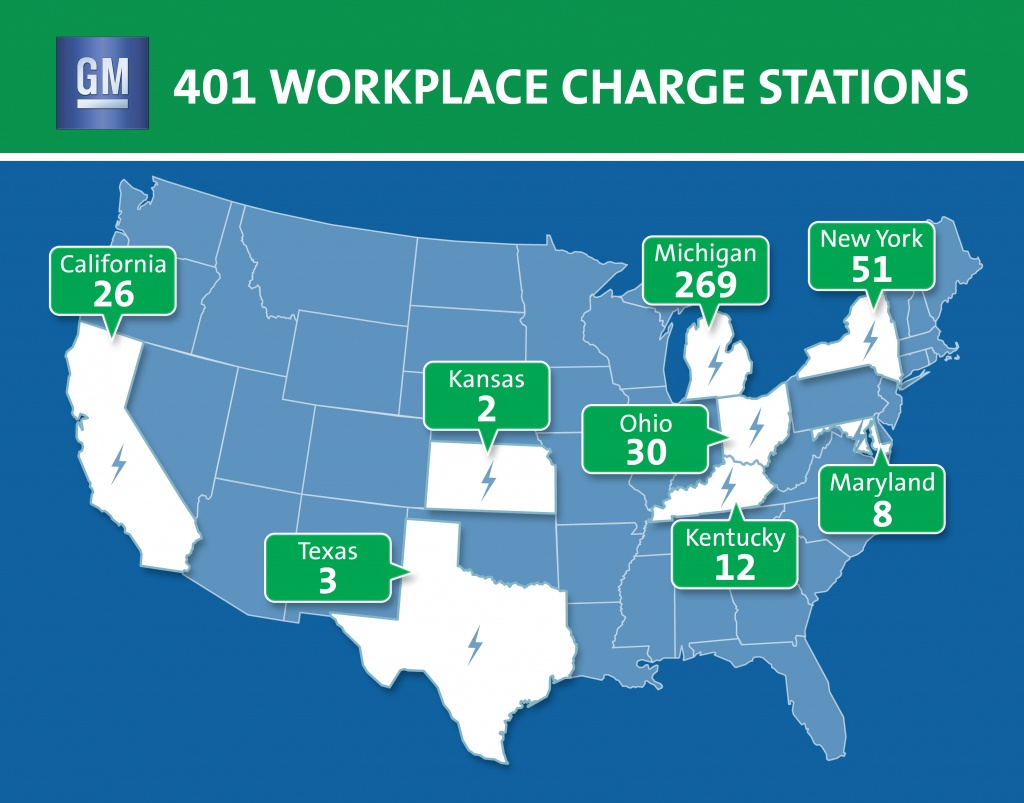 Gm Surpasses 400 Ev Charge Stations At U.s. Facilities - Charging Stations In Texas Map