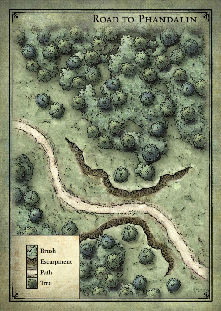 Goblin Ambush Map - Lost Mine Of Phandelver | Important Parts Of - Lost Mine Of Phandelver Printable Maps