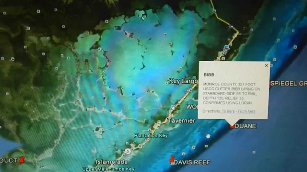 Google Earth Fishing - Florida Keys Reef Overview - Youtube - Florida Reef Map