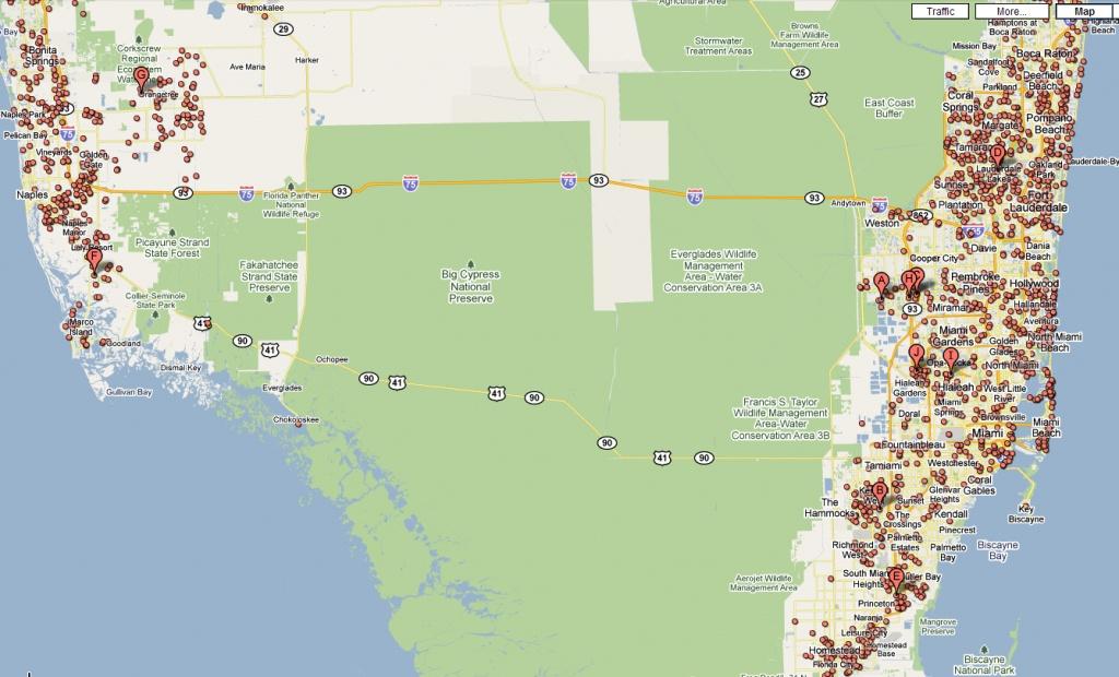 Google Map Florida Usa And Travel Information | Download Free Google - Google Maps Florida Usa