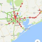 Google Map Of All The Roads Closed In Texas Due To Hurricane Harvey   Google Maps Galveston Texas