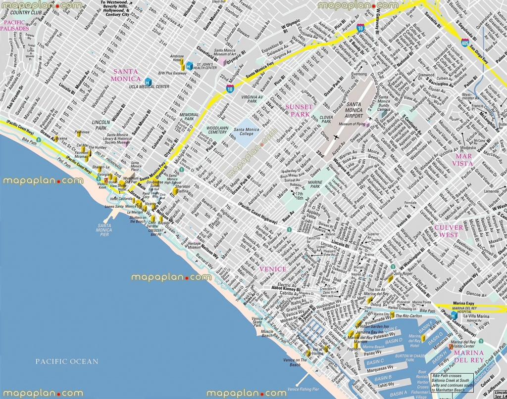 Google Map Venice Beach California – Map Of Usa District - Venice Beach California Map