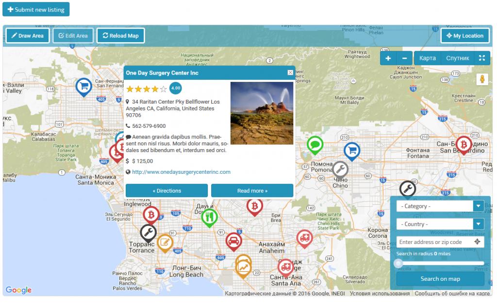 Google Maps Locator Plugin For WordPressshamalli   Codecanyon - Google Maps Calabasas California