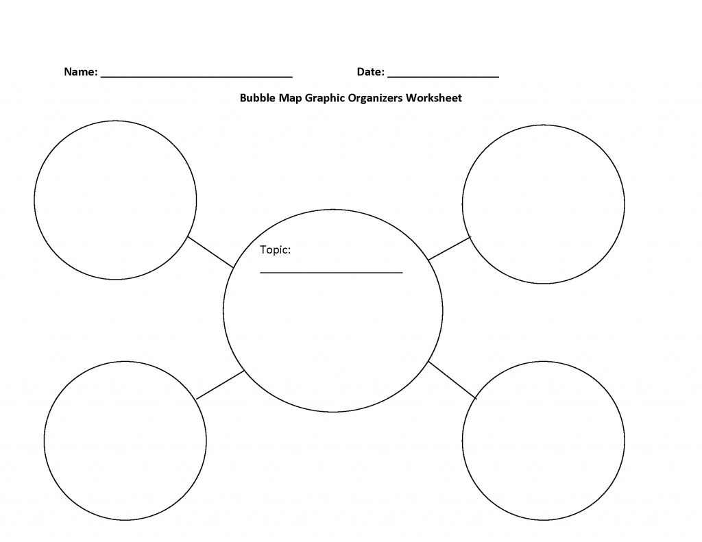 Graphic Organizers Worksheets | Bubble Map Graphic Organizers Worksheet - Bubble Map Template Printable