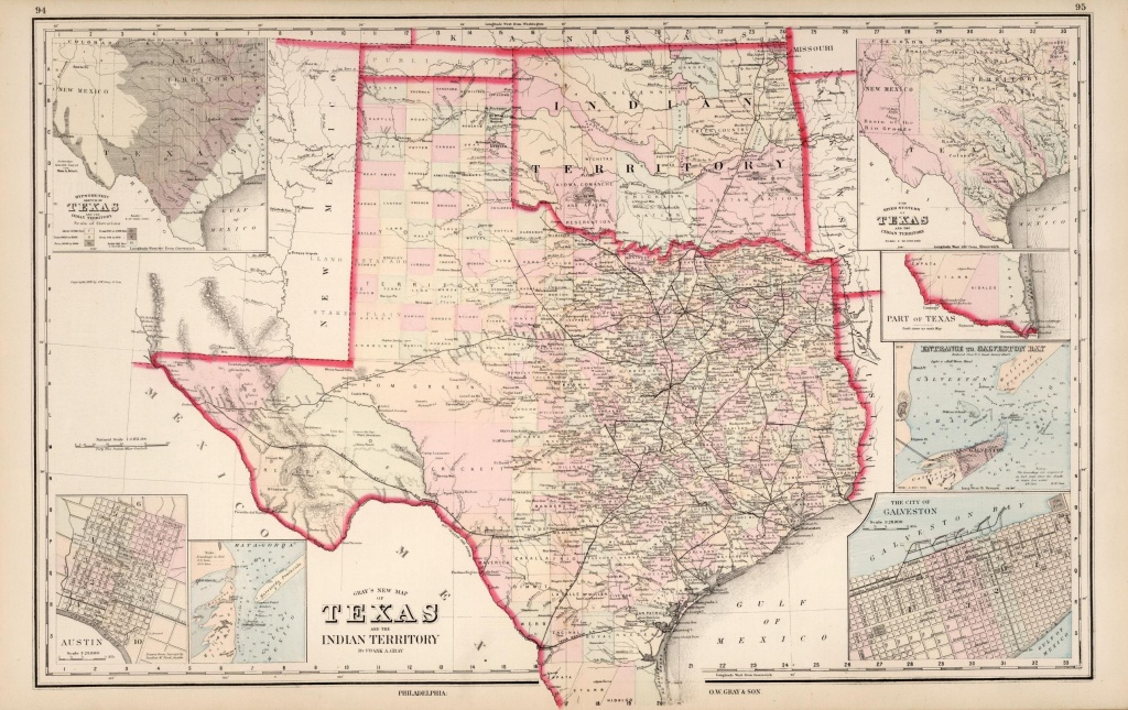 Gray-1876-Texas | Texas Historical Maps | Texas County Map, Texas - Texas County Wall Map