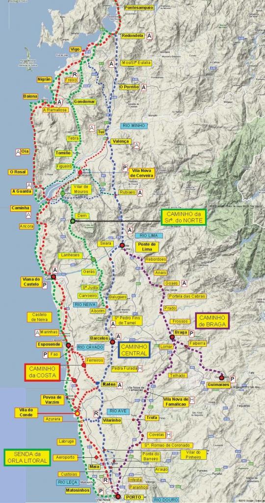 Great Camino Portugues Resource! Downloadable Maps And Info | El - Printable Map Of Camino De Santiago