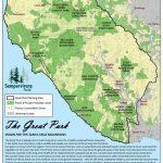 Great Park Map   Santa Cruz Mountains | Sempervirens Fund   Redwood Forest California Map