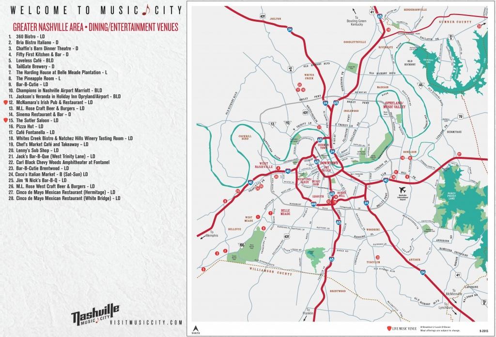 Greater Nashville Map - Printable Map Of Nashville Tn