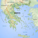 Greece Physical Map   Printable Map Of Greece