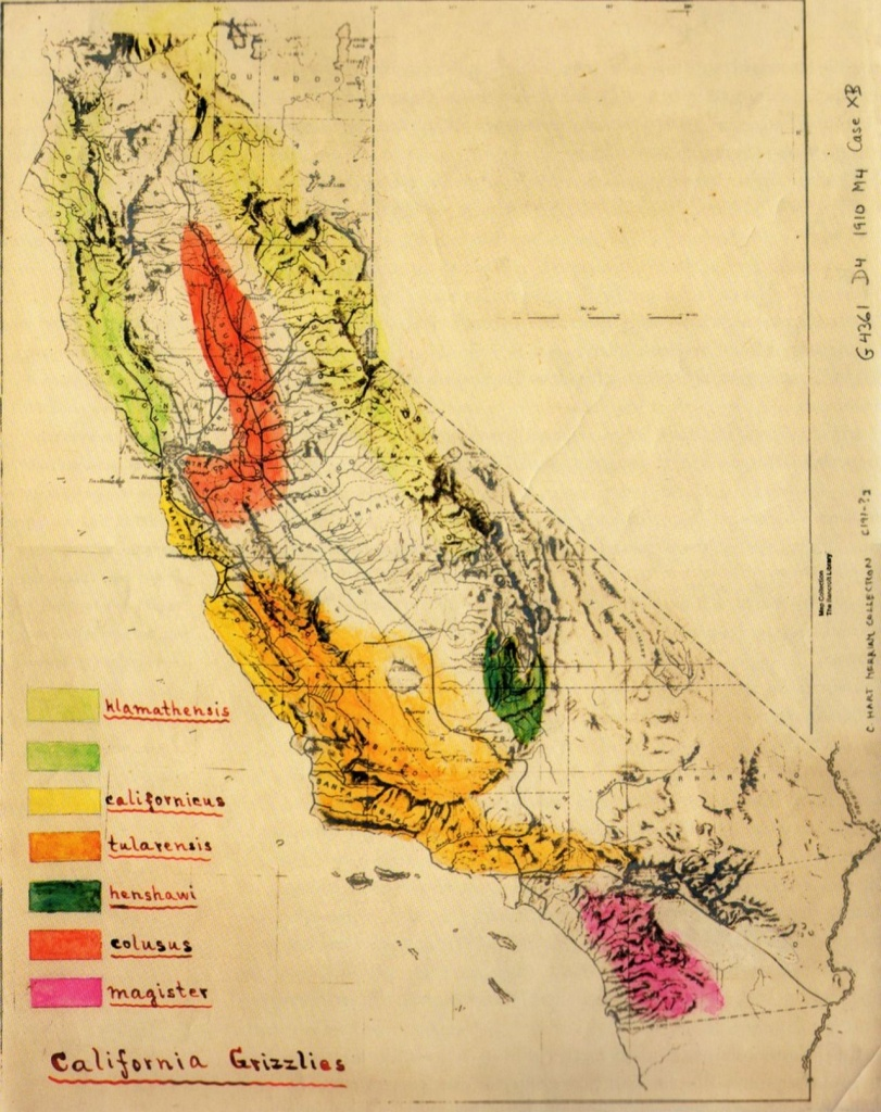 Grizzly Bear In California Map | Mapquest | Map, California Map, Map - Bears In California Map