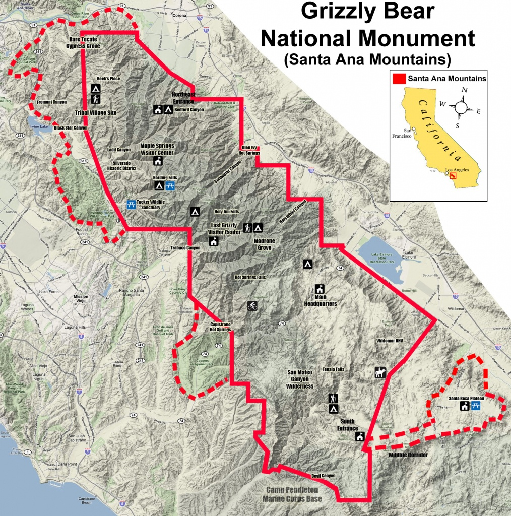 Grizzly Bear National Monument Vision - Bears In California Map