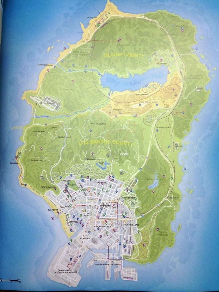 Gta 5 Full Map | Games ( Ps3 - Ps4 - Ps Vita - Xbox 360 - Xbox One - Gta 5 Map Printable