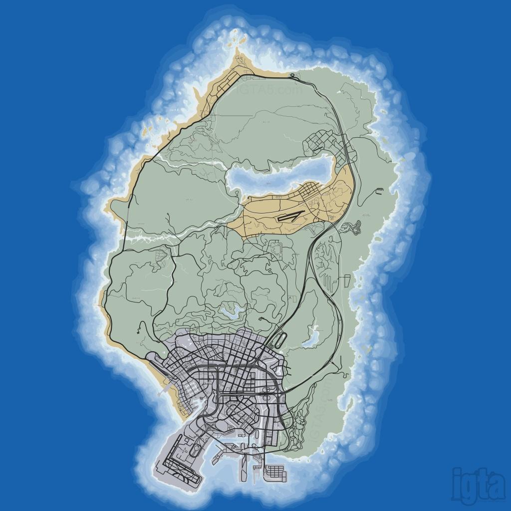 Gta 5 Map - Gta 5 Map Printable