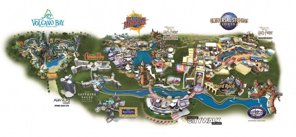 Guide To The Theme Parks At Universal Orlando Resort - Universal Studios Florida Resort Map
