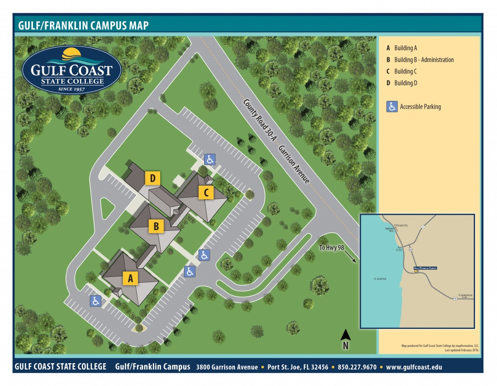 Gulf Coast State College | Gulf/franklin Campus - Florida Gulf Coastline Map