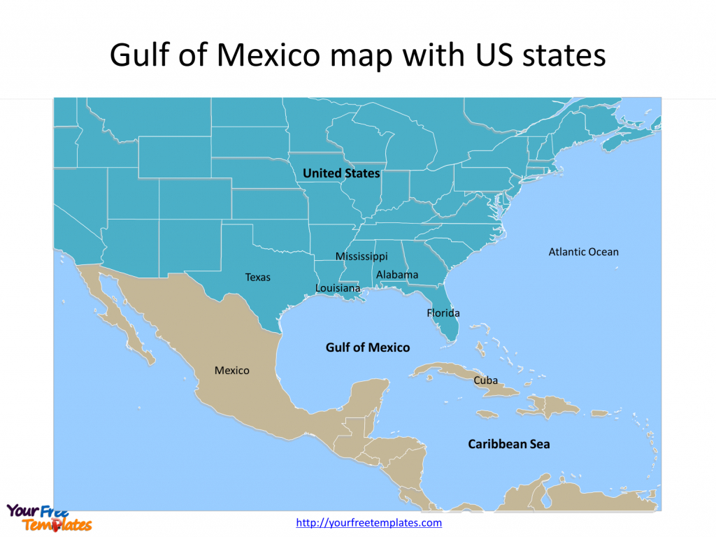 Gulf Of Mexico Map Powerpoint Templates - Free Powerpoint Templates - Florida Ocean Map