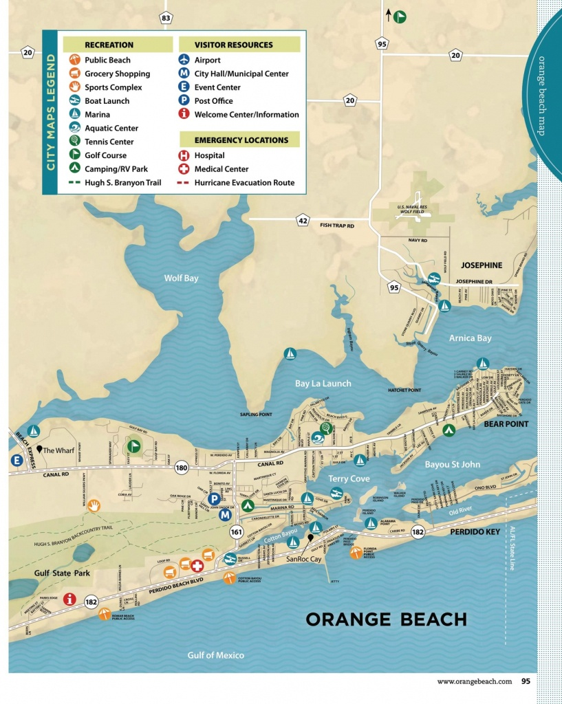 Gulf Shores & Orange Beach 2013 Official Vacation Guide - Orange Beach Florida Map