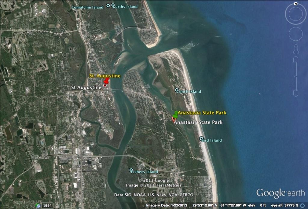 Happy 500Th Birthday Florida!   Homeless And Loving It! - Google Maps St Augustine Florida