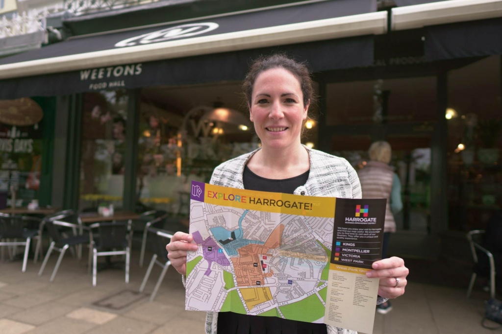 Harrogate Bid Release Town Centre Map, Helping People Experience - Printable Street Map Of Harrogate Town Centre