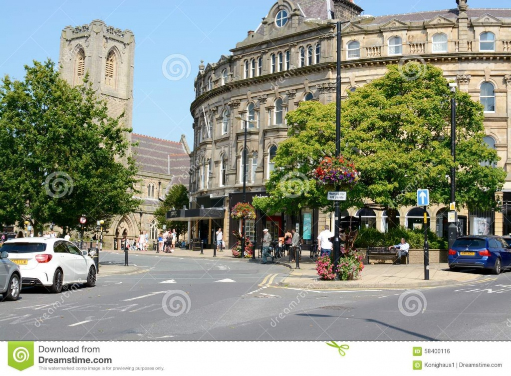 Harrogate Town Centre Editorial Photo. Image Of Road - 58400116 - Printable Street Map Of Harrogate Town Centre
