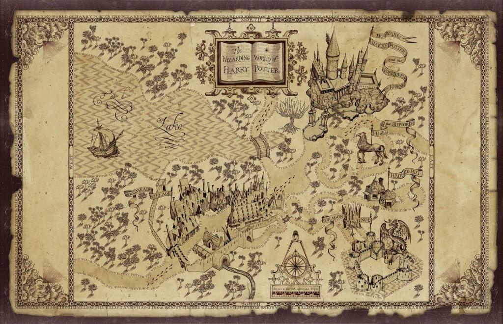 Harry Potter Map   Treasure Map Inspiration   Harry Potter Free - Free Printable Marauders Map