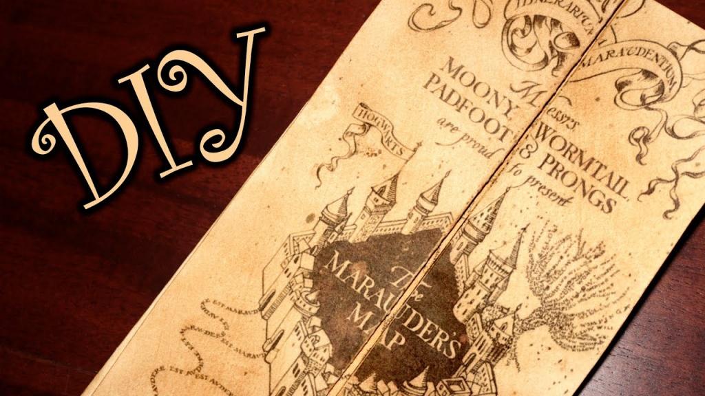 Harry Potter Marauder's Map - Diy - Youtube - Harry Potter Map Marauders Free Printable