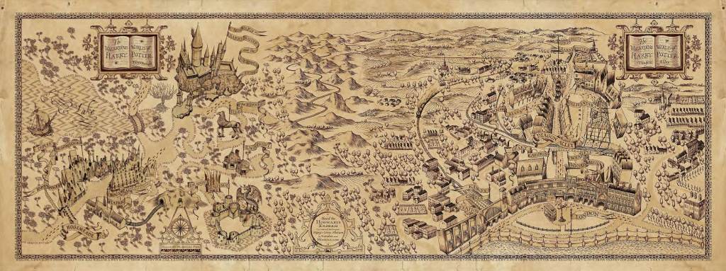 Harry Potter Marauders Map Printable (87+ Images In Collection) Page 1 - The Marauders Map Printable