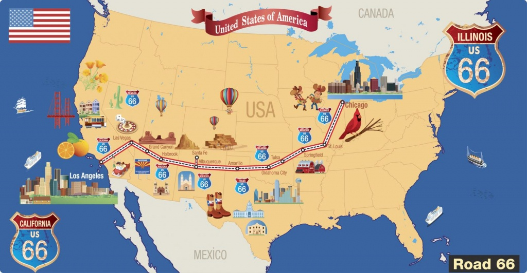 Haunted Road Trip On Route 66 | Lovetoknow - Free Printable Route 66 Map