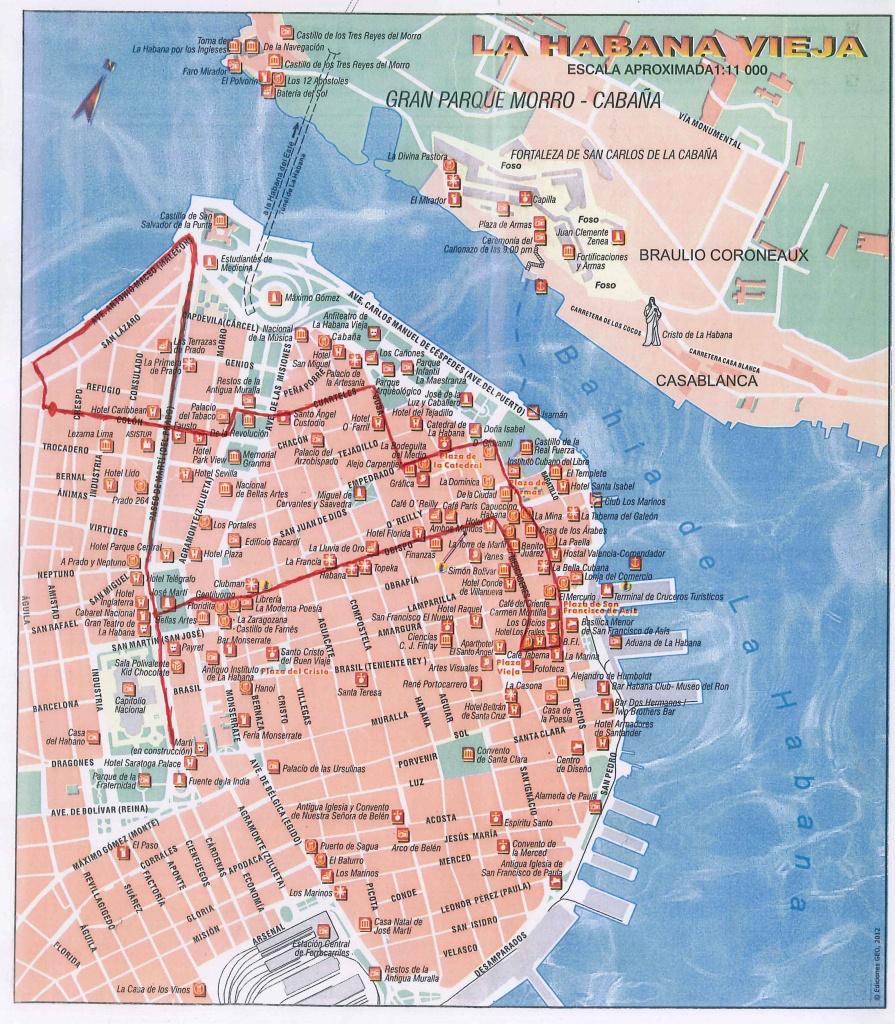 Havana Guide   Casa Havana - Havana City Map Printable