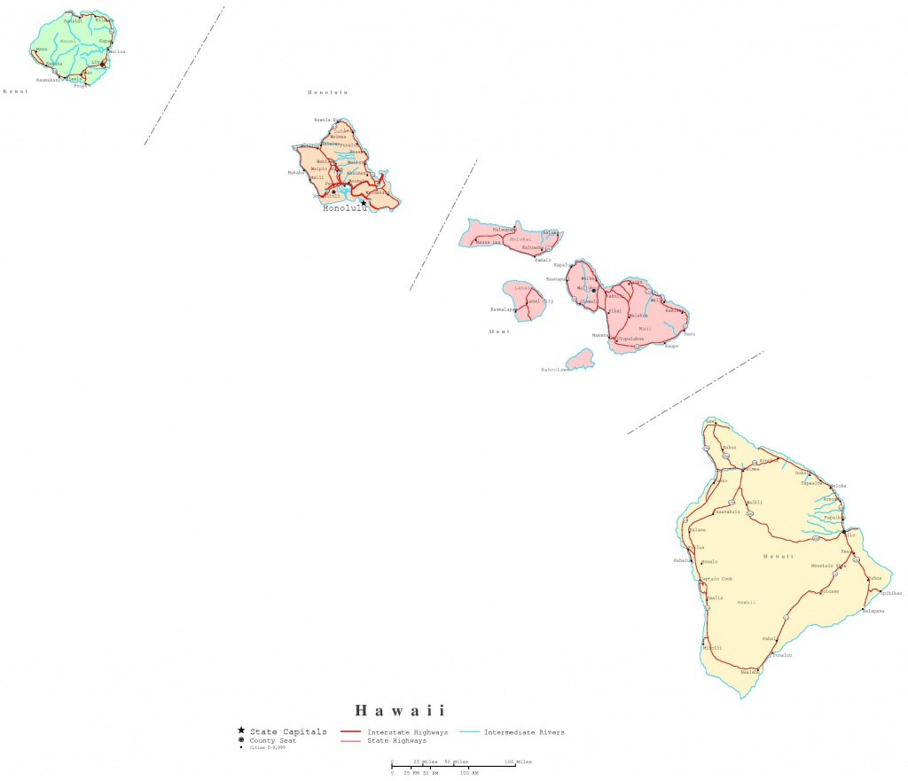 Hawaii Printable Map - Molokai Map Printable