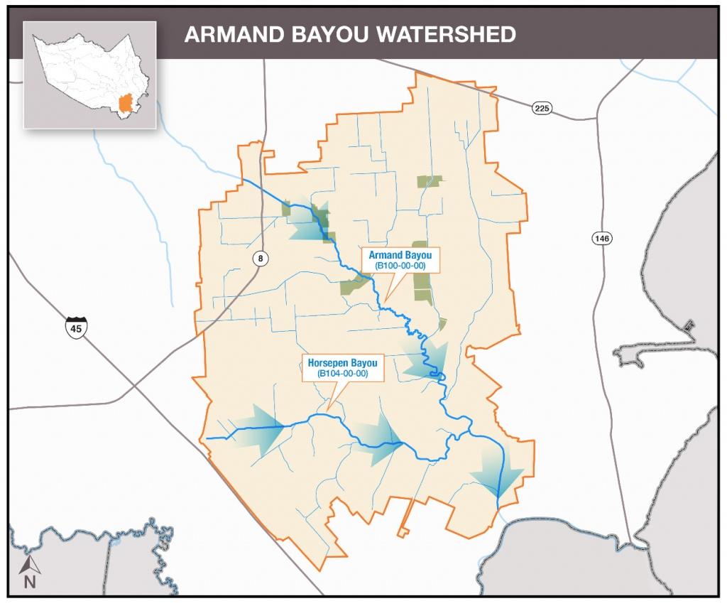 Hcfcd - Armand Bayou - Clear Lake Texas Map