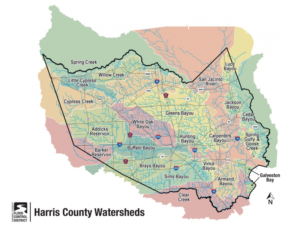 Hcfcd - Harris County's Watersheds - Map Records Of Harris County Texas