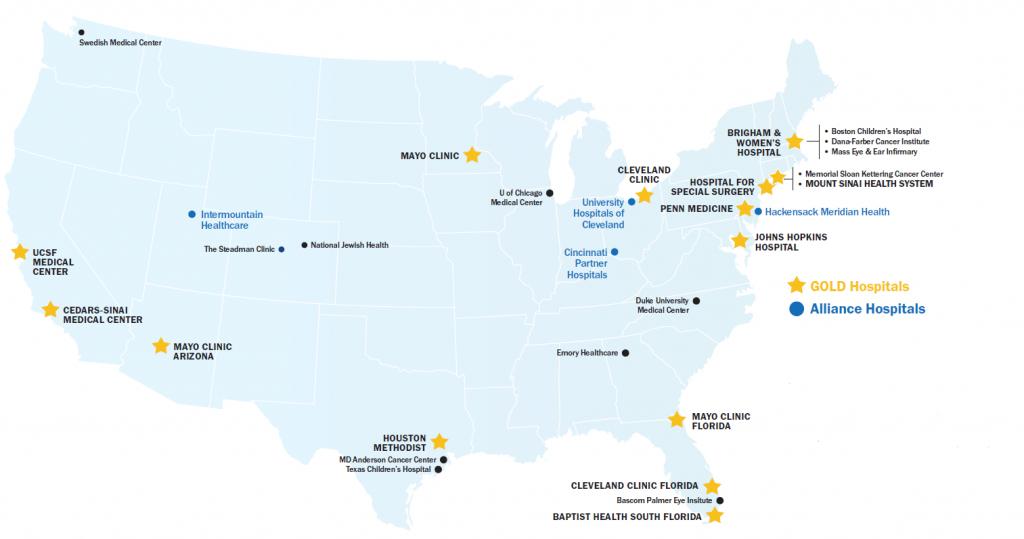 Healthnetwork Foundation - Texas Children's Hospital Map