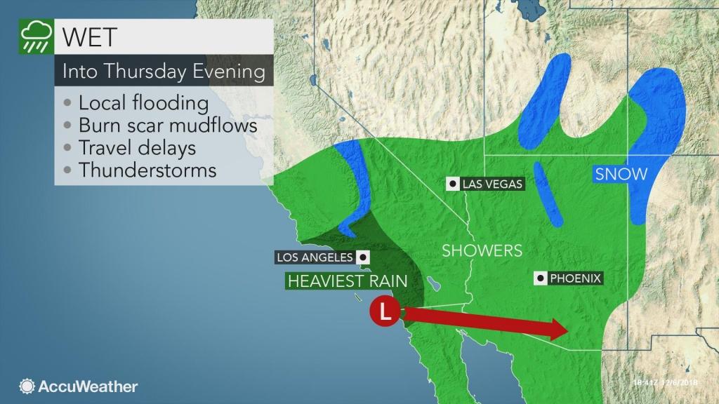 Heavy Rain To Put California Burn-Scar Areas At Risk For Mudslides - California Lead Free Hunting Map