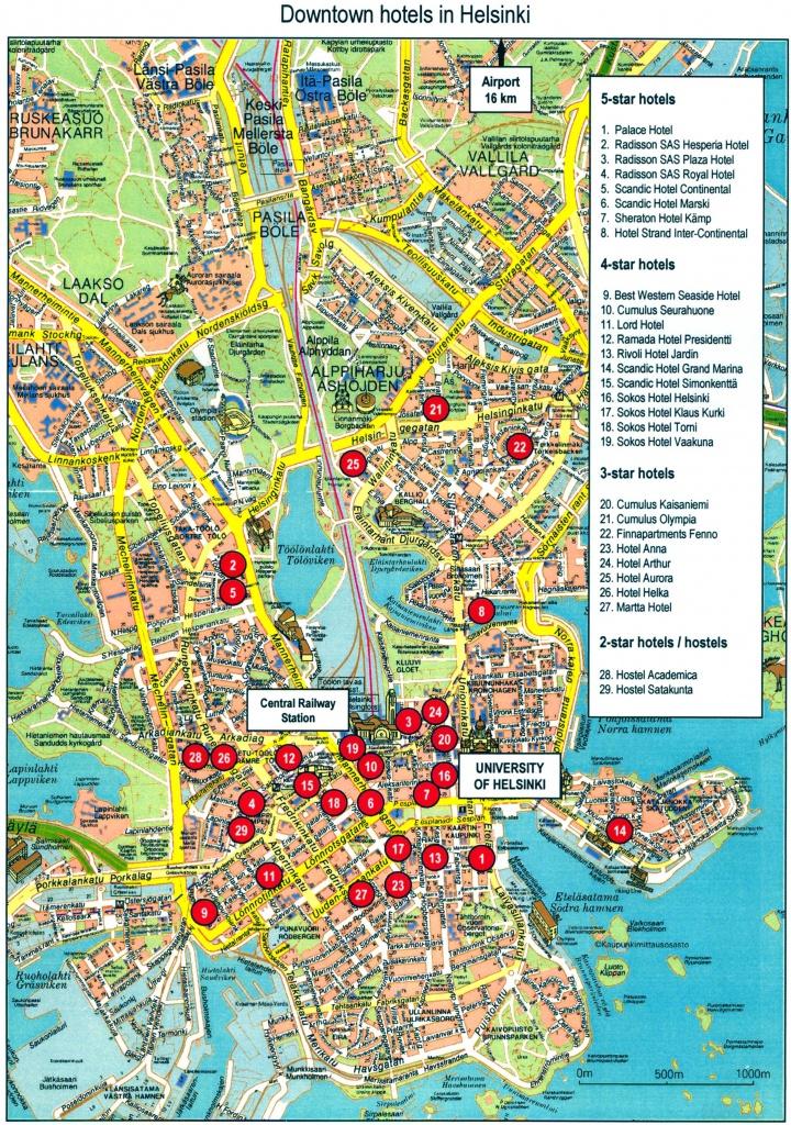 Helsinki Finland Tourist Map - Helsinki Finland • Mappery - Helsinki City Map Printable