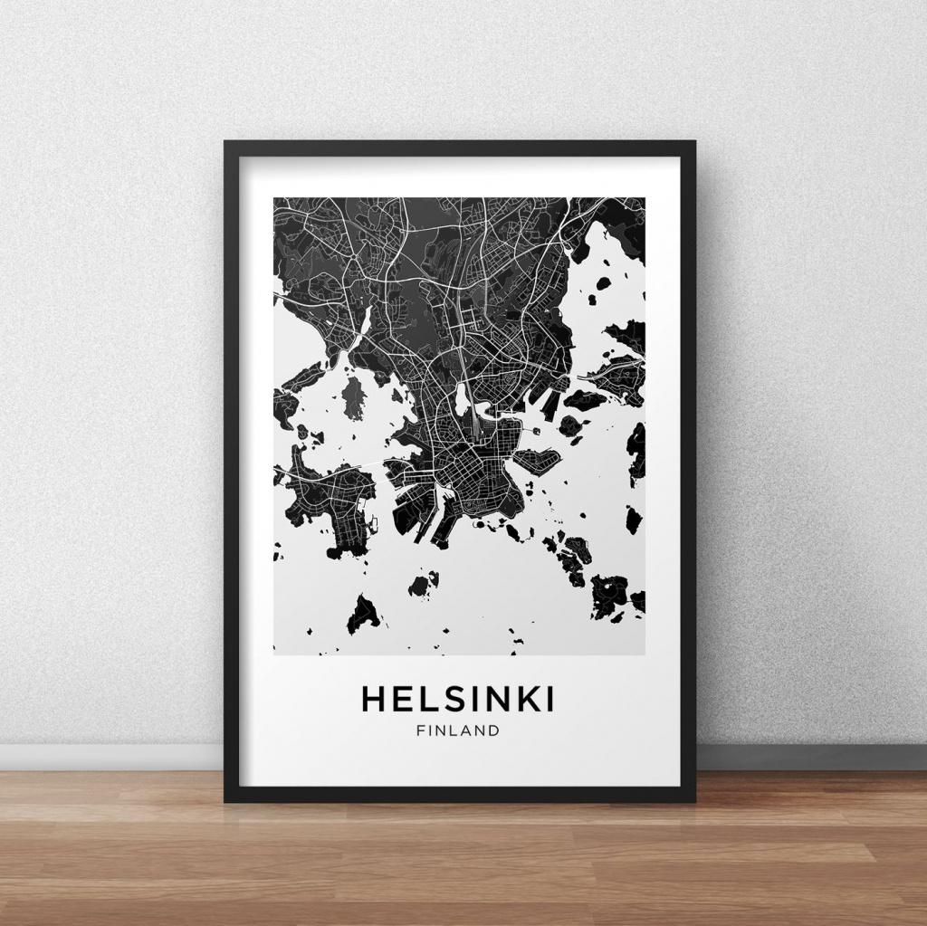 Helsinki Map Print, Helsinki Map Download, City Map Helsinki - Helsinki City Map Printable