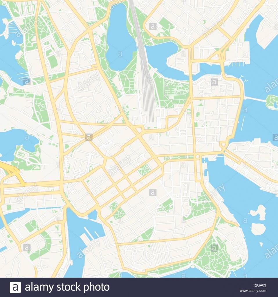 Helsinki Street Map Stock Photos & Helsinki Street Map Stock Images - Helsinki City Map Printable