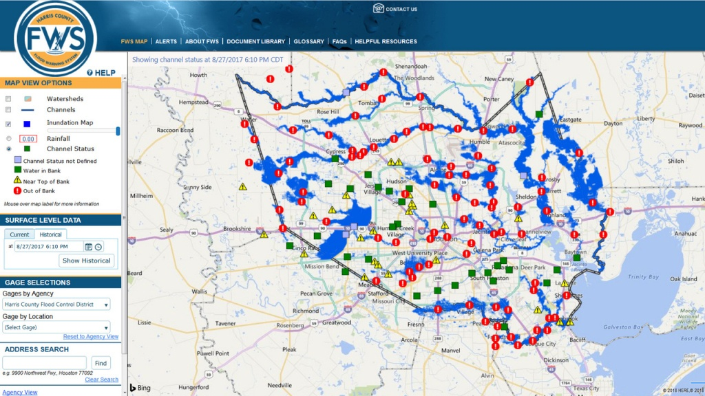 Here's How The New Inundation Flood Mapping Tool Works - Houston Texas Floodplain Map