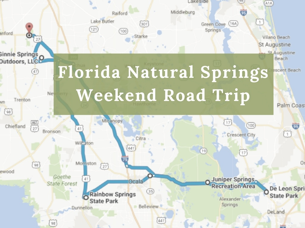 Here's The Perfect Weekend Itinerary If You Love Exploring Florida's - Florida Springs Map