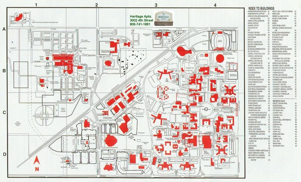 Heritage 20Texas 20Tech 15 Texas Tech Campus Map | Ageorgio - Texas Tech Campus Map