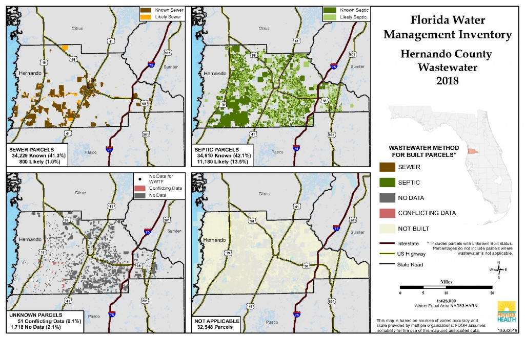 Hernando Florida Water Management Inventory Summary | Florida - Hernando Florida Map