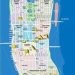 High Resolution Map Of Manhattan For Print Or Download | Usa Travel   Printable Map Manhattan Pdf
